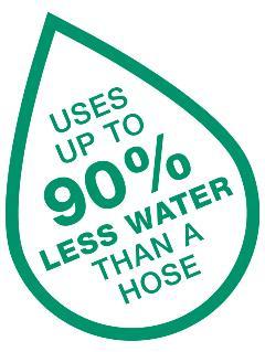 Irrigatia use 90% less water